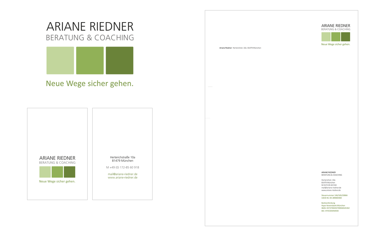 Tina Thanner Grafikdesign, Ariane Riedner Coaching