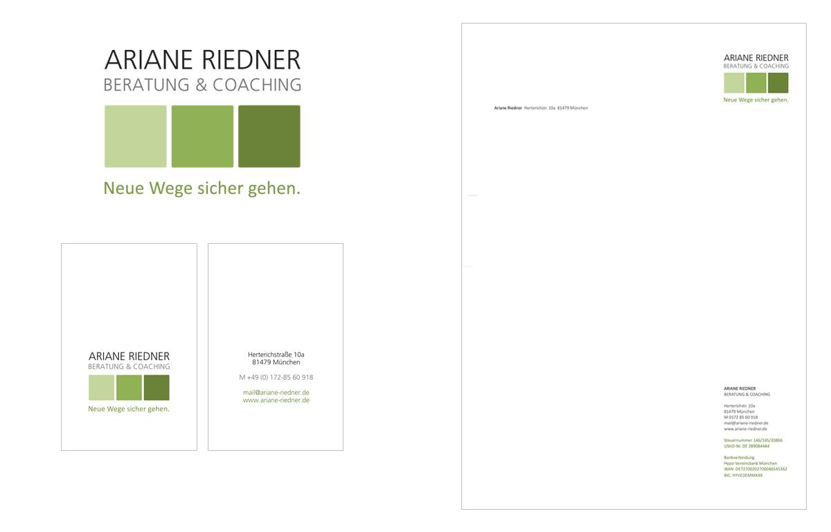 Tina Thanner Grafikdesign, Ariane Riedner Coaching