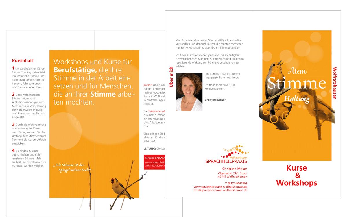 Tina Thanner Grafikdesign, Christine Moser Flyer