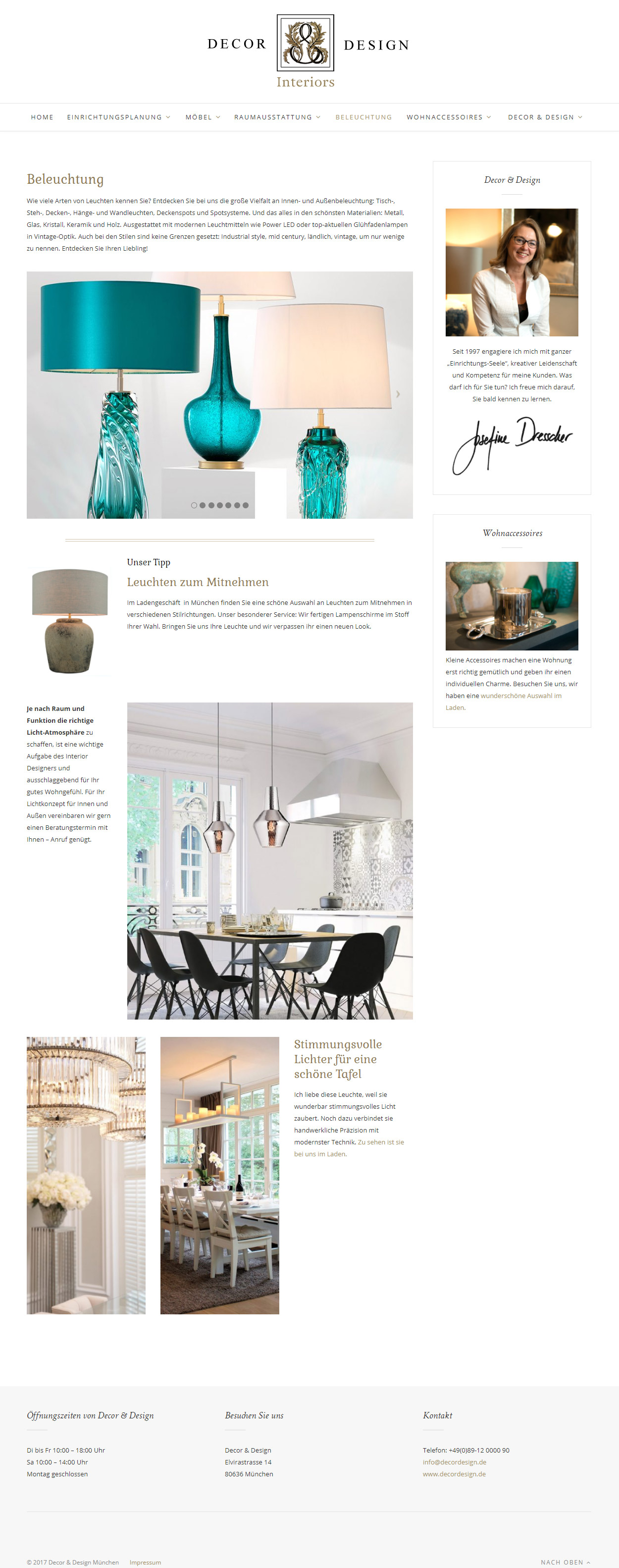 Tina Thanner Decor & Design Relaunch