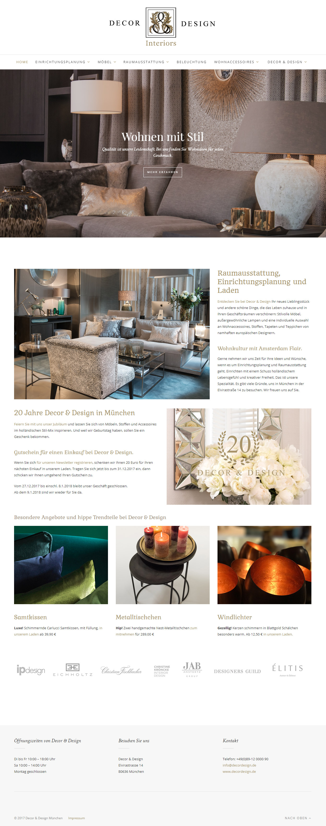 Tina Thanner Decor & Design Relaunch
