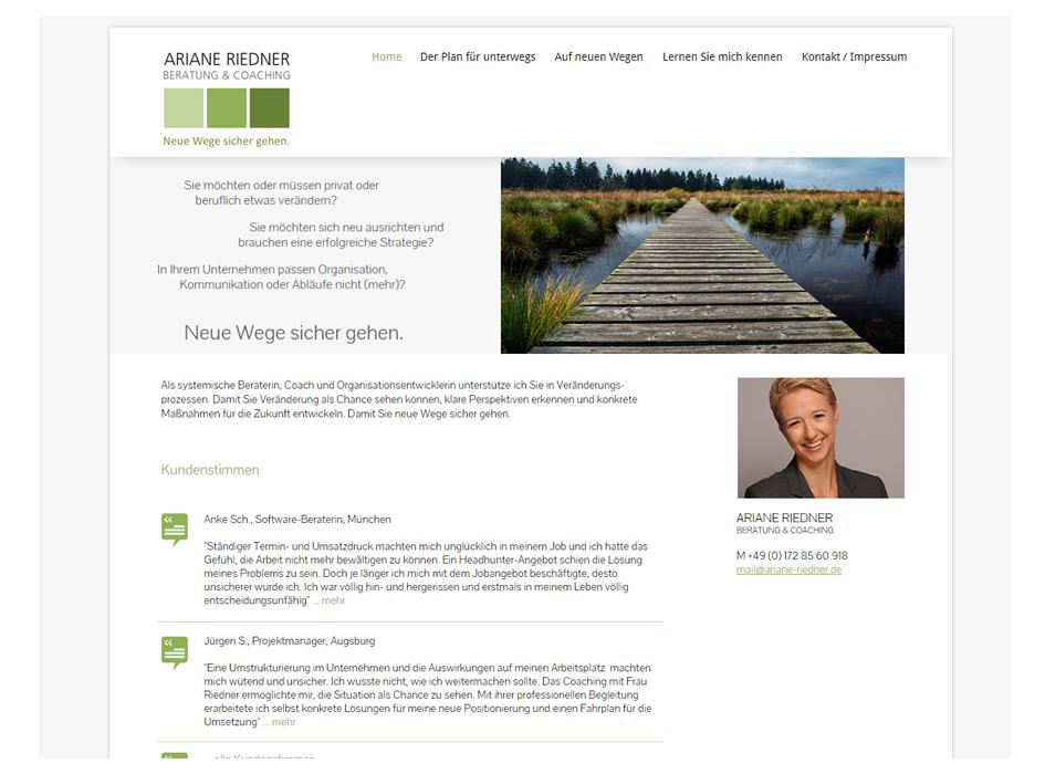 Tina Thanner, Ariane Riedner Website