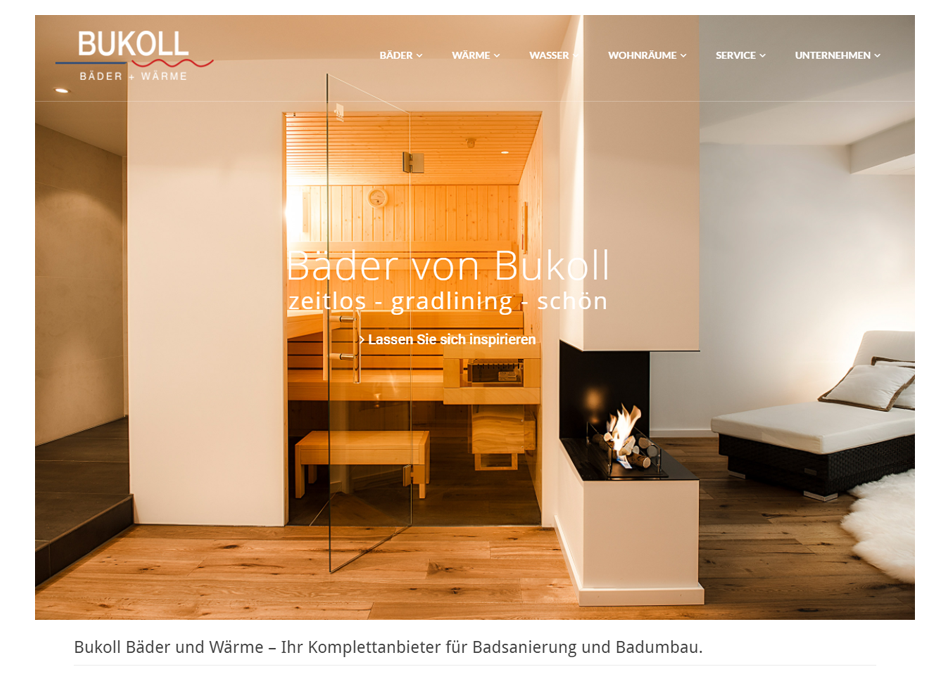 Bukoll Bäder, Relaunch Website