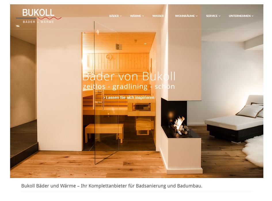 Bukoll Bäder, Relaunch Website