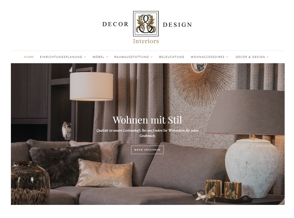 Dekor & Design, Relaunch Website