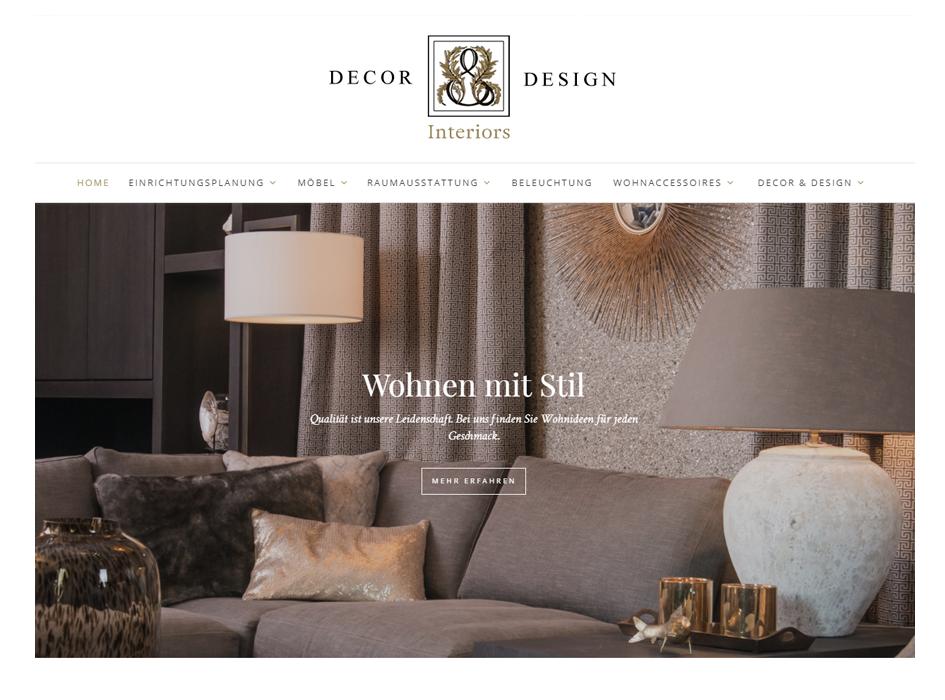 Dekor & Design, Relaunch Website