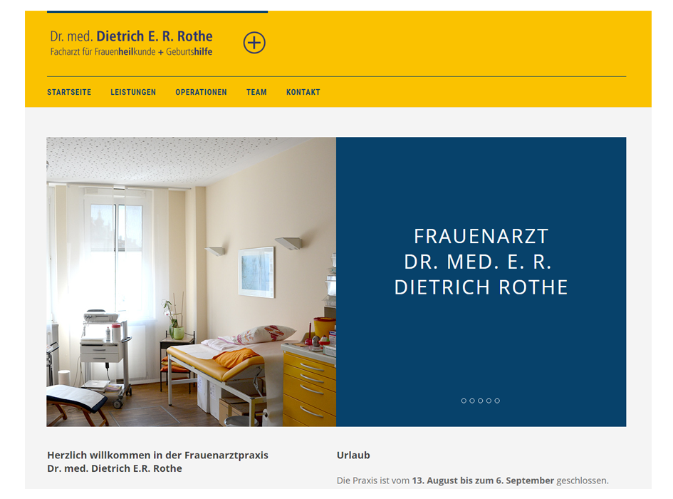 Dr. med. E.R.Dietrich Rothe - Launch der Website