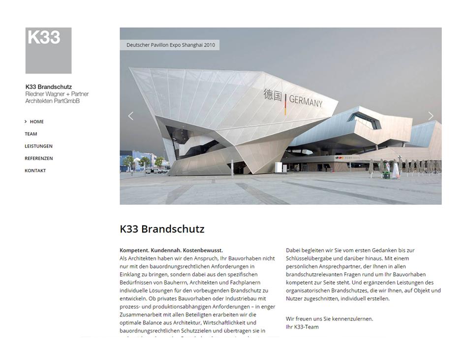 Tina Thanner Website K33 Brandschutz