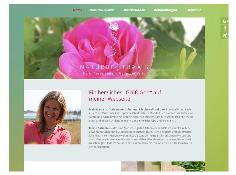 Tina Thanner Naturheilpraxis Doris Austerhuber, Website