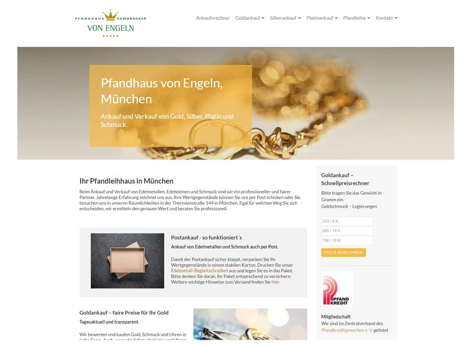 Pfandhaus von Engeln Website