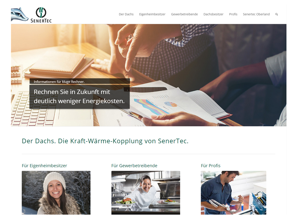 SenerTec Center Oberland, Relaunch der Website