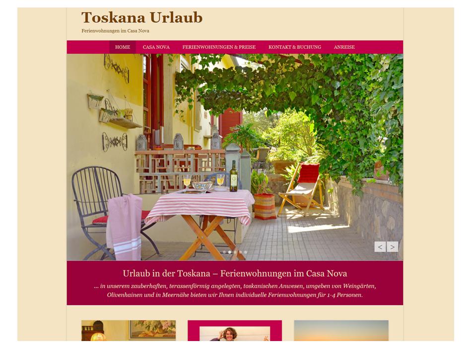 Toskana Urlaub Website Relaunch