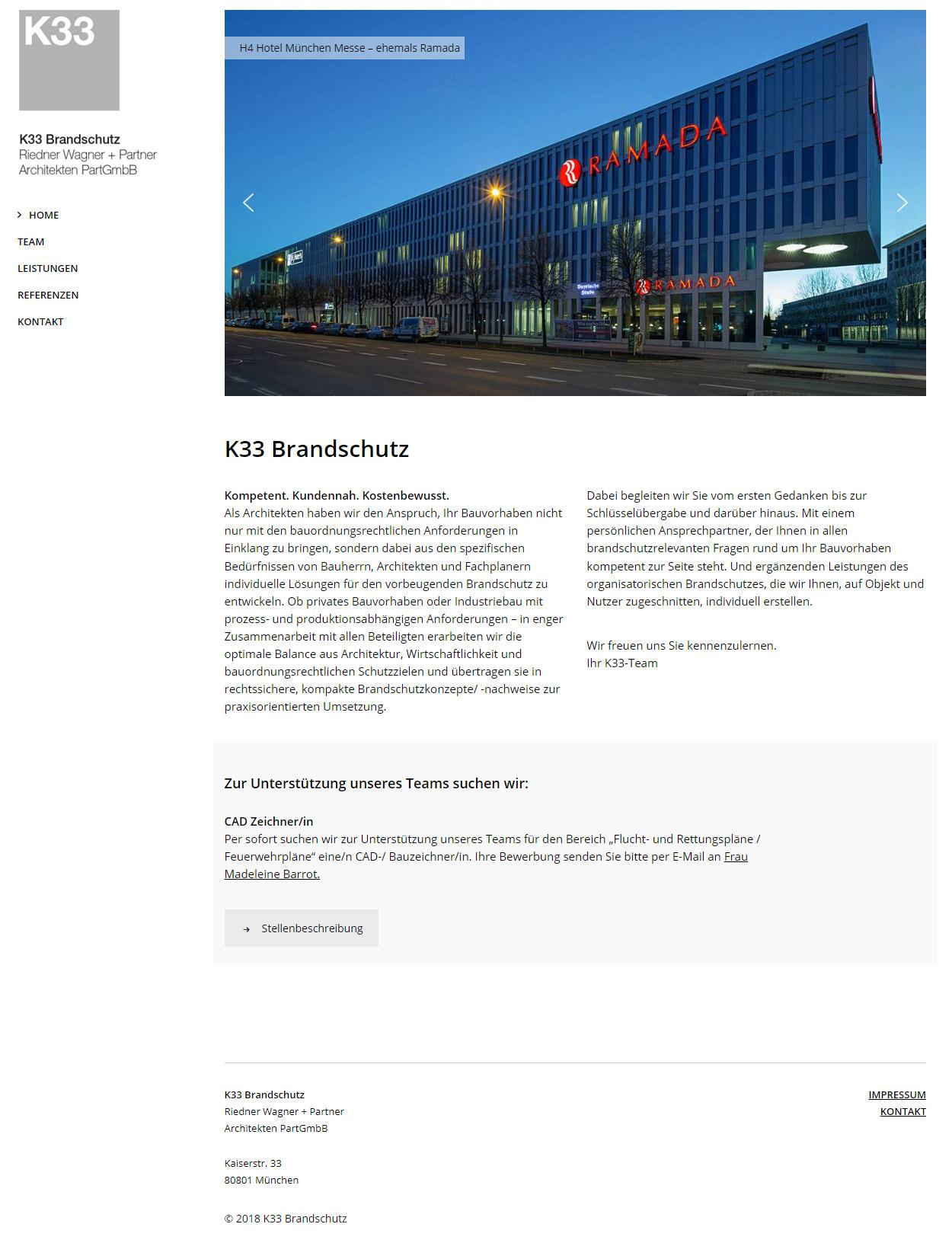 K33 Brandschutz Website