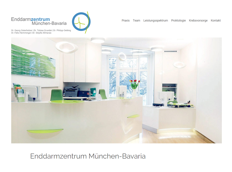 Enddarmzentrum Bavaria Website Relaunch