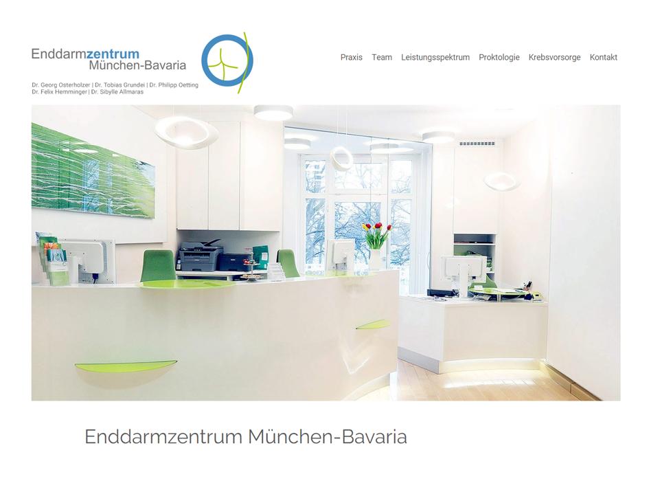 Enddarmzentrum Bavaria Website Relaunch