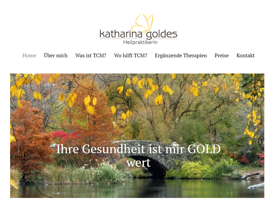Naturheilpraxis Goldes Website