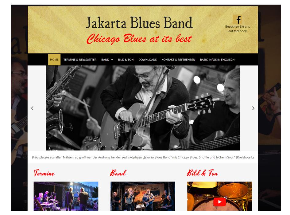 Jakarta Blues Band, Website
