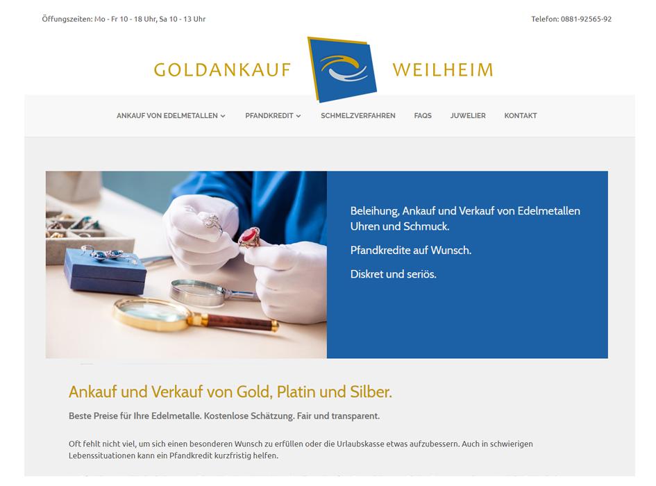Goldankauf Weilheim, Pfandhaus